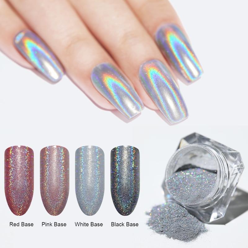 1,5g Glänzende Laser Nagel Glitter Chrome Bunte Pigment Nagel Pulver Glitter Shinning Nagel Kunst Dekorationen