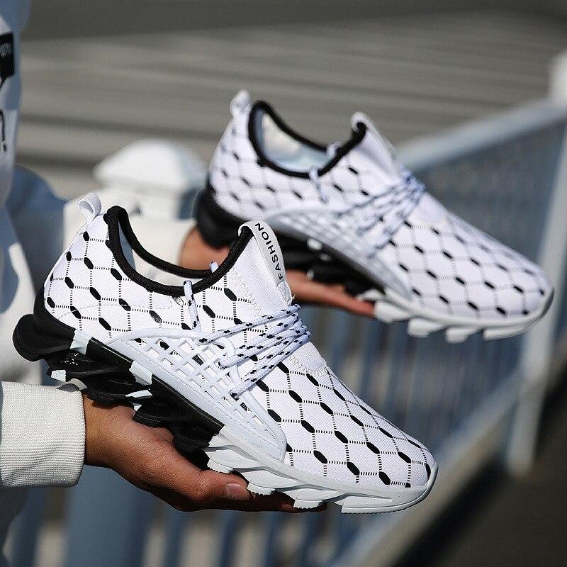 2019 caliente transpirable hombres deportivas de correr de malla cómodo Zapatillas Hombre zapatillas atléticos al aire libre zapatos deportivos zapatos para correr