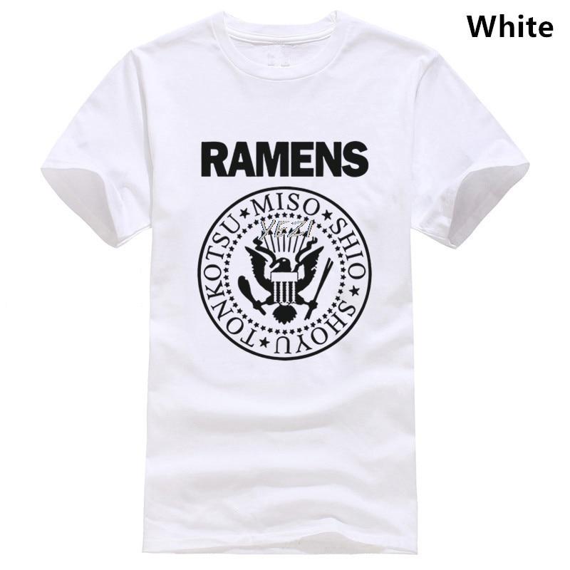 Camiseta de bricolaje Ramen Noodles de manga corta de algodón para hombres y mujeres