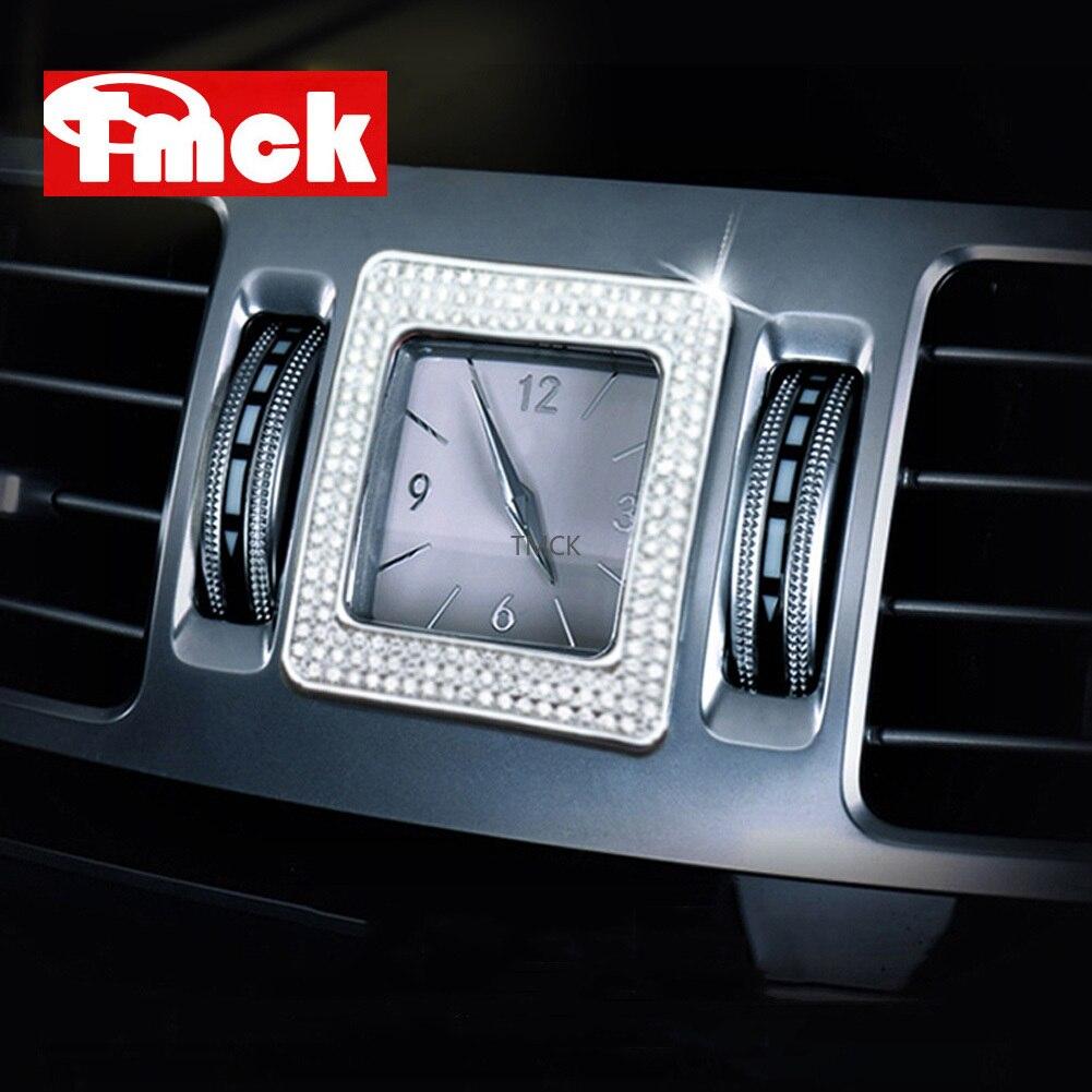 Für Mercedes Benz E CLS Klasse W212 W218 Auto Zubehör Zentrale Steuerung Uhr Tisch Uhr Ring Trim Diamant Abdeckung Aufkleber aufkleber