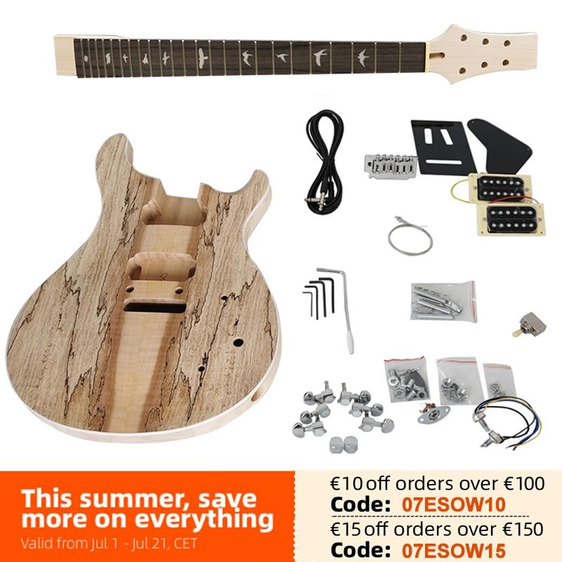 Aiersi لم تنته لتقوم بها بنفسك PRS كهربائي عِدد جيتار الزيزفون الجسم آلة موسيقية الغيتار مع جميع الأجهزة