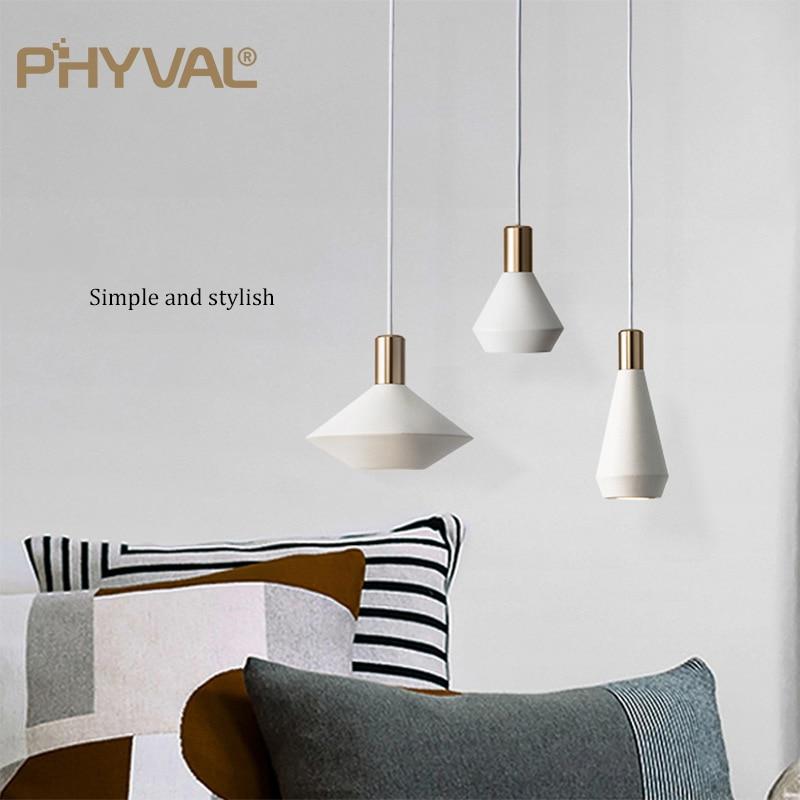 PHYVAL الشمال مصابيح متدلية لمطعم بار نوم السرير أضواء الحديثة إضاءة داخلية ديكور المنزل الثريات 86-265 فولت