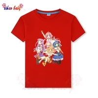 fashion cartoon girls t shirt children short sleeves summer tops for sisters clothes kids cotton baby girl 2 14 y