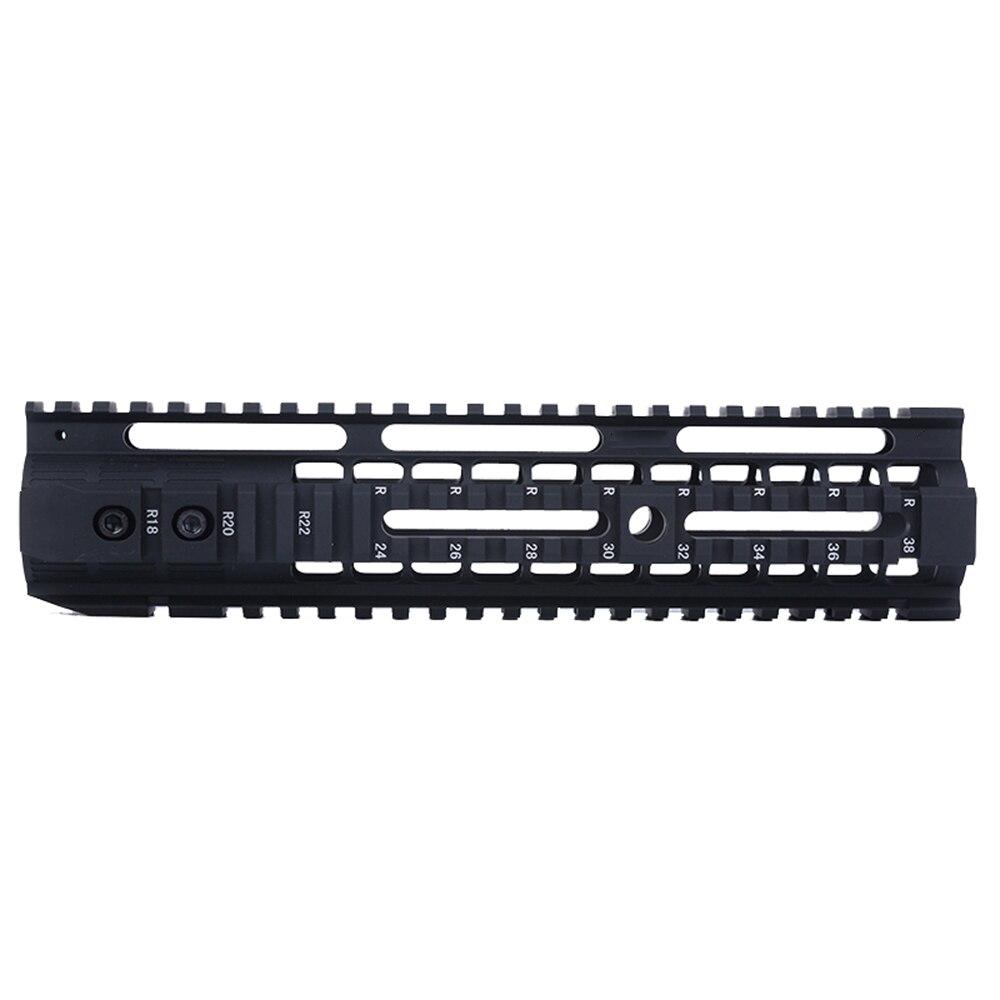 "Capa de aluminio anodizado 4 ""7"" 10 ""12"" M-LOK MOD Lite Sistema de barandilla para AR AEG Airsoft Air Guns M4 Paintball receptor caja de cambios"