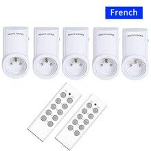 France prise intelligente Mini, prise européenne Type E/F prise 16A télécommande sans fil 433 interrupteur de lumière sans fil