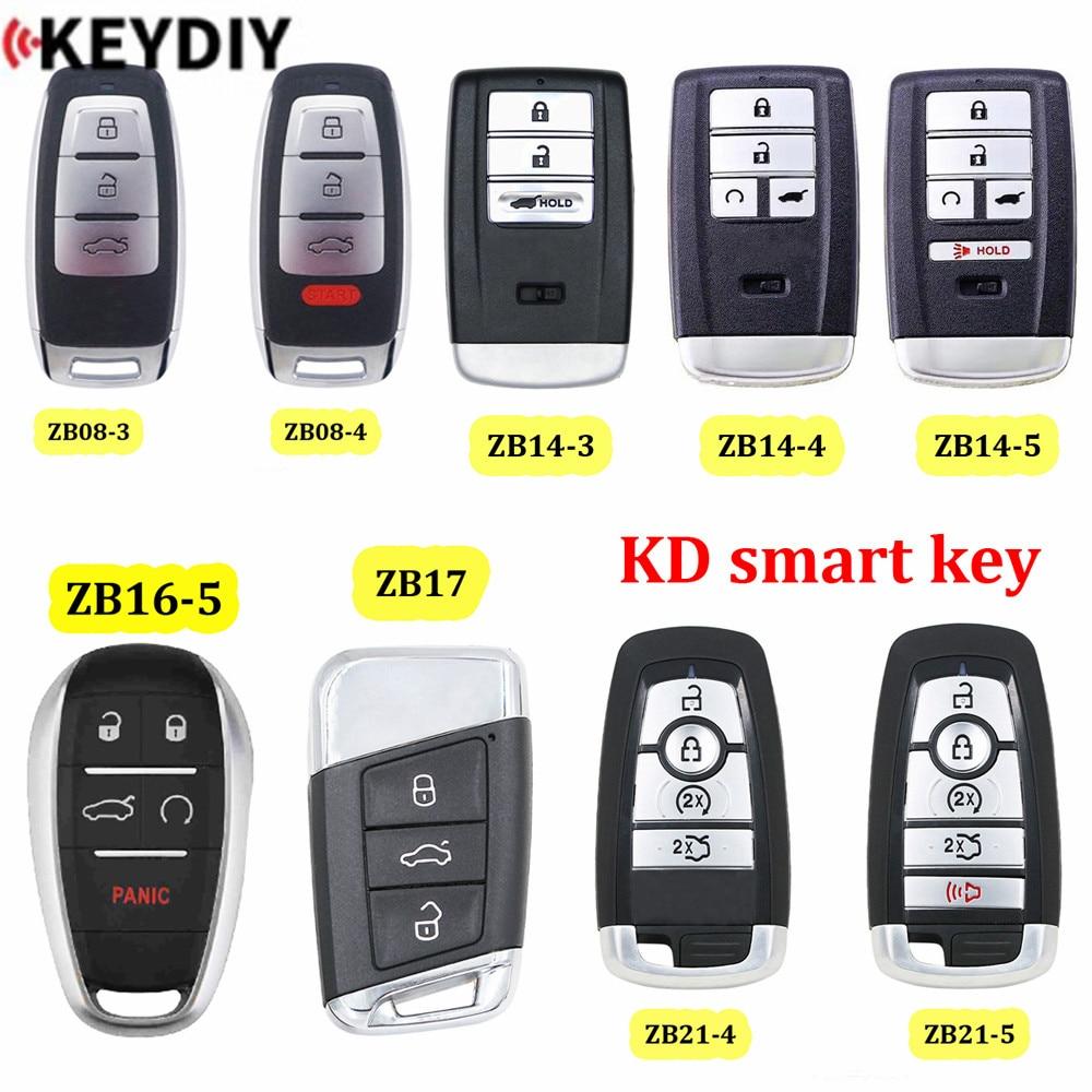 KEYDIY clé intelligente universelle ZB08-3/-4 ZB14-3/ZB14-4/ZB14-5 ZB16-5 ZB17 ZB21-4/-5for KD-X2 KD900 Mini KD adapté à plus de 2000 modèles