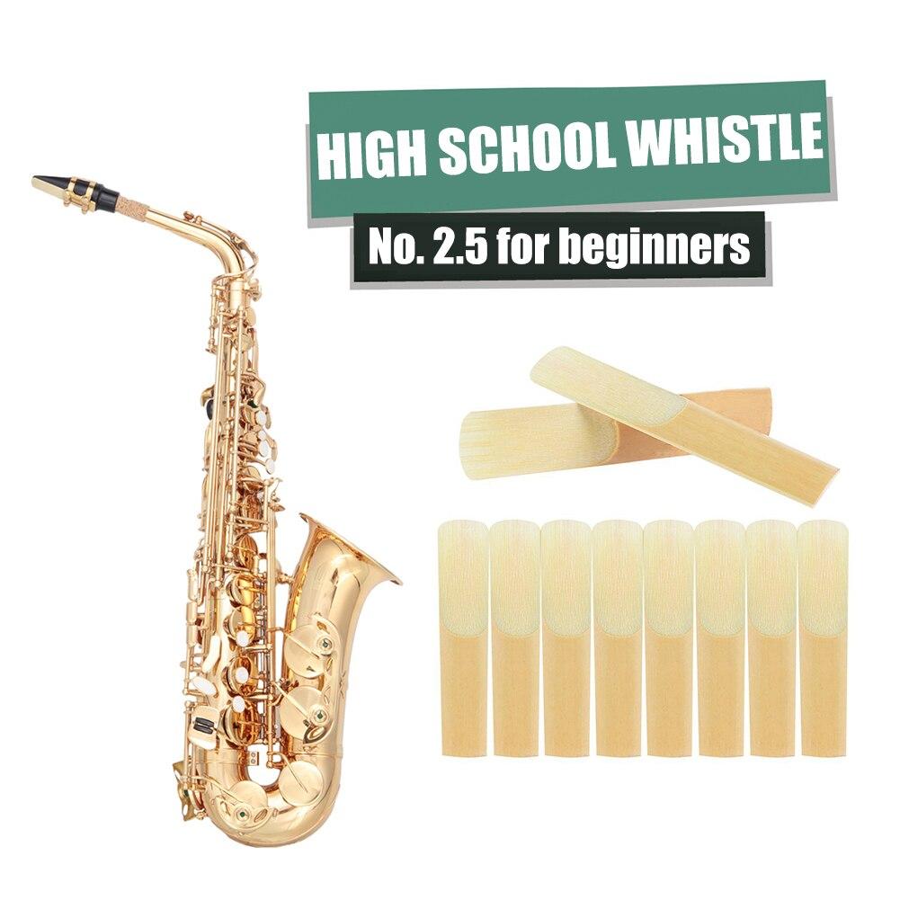 Lengüetas de saxofón Alto para principiantes, lengüetas ligeras y portátiles de fuerza...