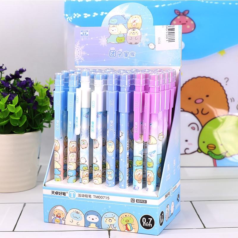 40 unids/lote lápiz mecánico Sumikko guraf lindo 0,5mm bolígrafo automático papelería regalo escolar suministros de oficina