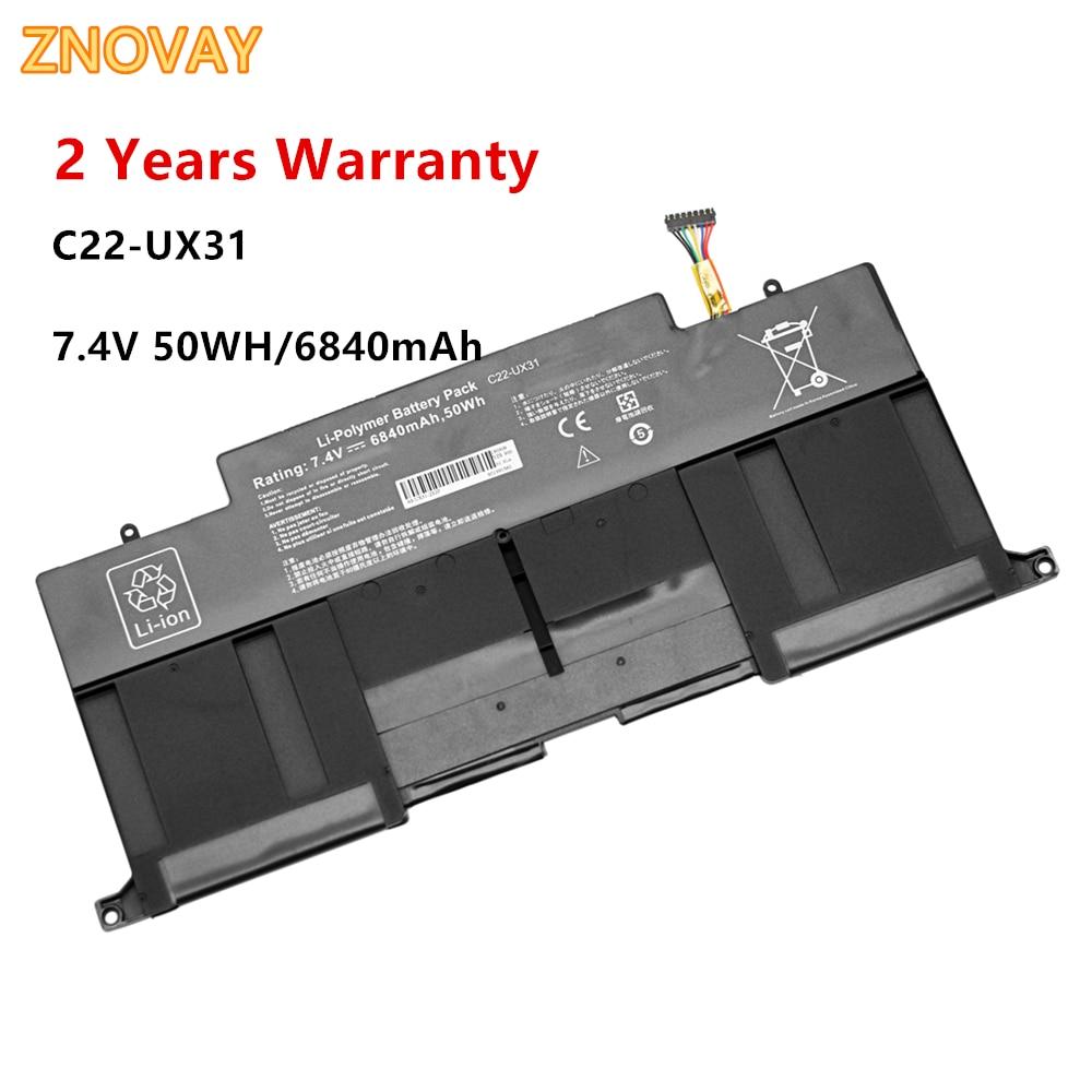 7,4 V 50WH/6840mAh C22-UX31 batería de portátil para Asus C23-UX31 ZenBook UX31A...