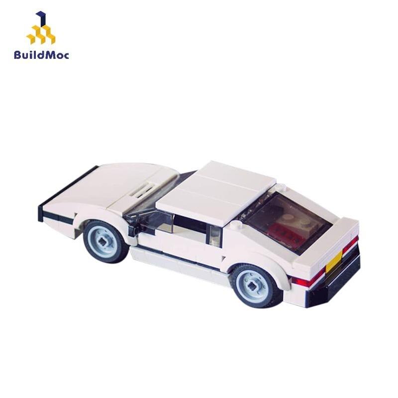 BuildMoc City Speed Champions, coche deportivo, vehículo de bloques de construcción, creador técnico de supercoches, juguetes educativos para hacer uno mismo para niños, regalos