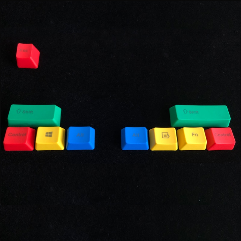 Механическая клавиатура PBT с 10 клавишами, колпачки для механической клавиатуры с профилем OEM, модификаторы RGBY, цвет CMYK, для переключателей ...