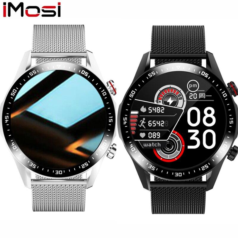 E-12 الذكية ووتش الرجال بلوتوث دعوة مخصص الطلب تعمل باللمس الكامل للماء Smartwatch لالروبوت IOS الرياضية اللياقة البدنية تعقب