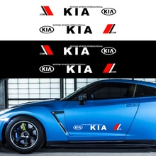 2 autocollants de carrosserie de voiture, Film vinyle, logo de mode, pour Kia Motors Cerato Sportage R K2 K3 K5, accessoires automobiles