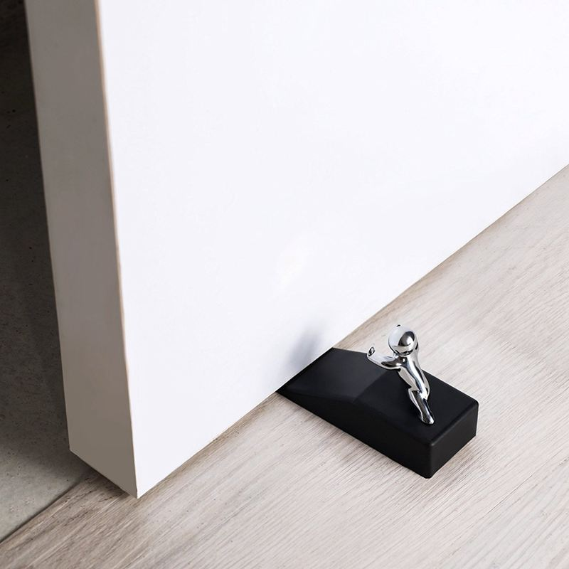 Zinc Alloy Little and Man with Non-slip Rubber Bases Door Stop Safe Anti-collision Door Stopper Noveltydesign Decorative