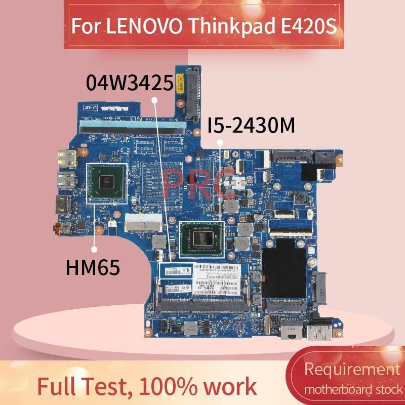 04W3425 04W6502 اللوحة لابتوب لينوفو ثينك باد E420S I5-2430M مفكرة اللوحة HM65 SR072