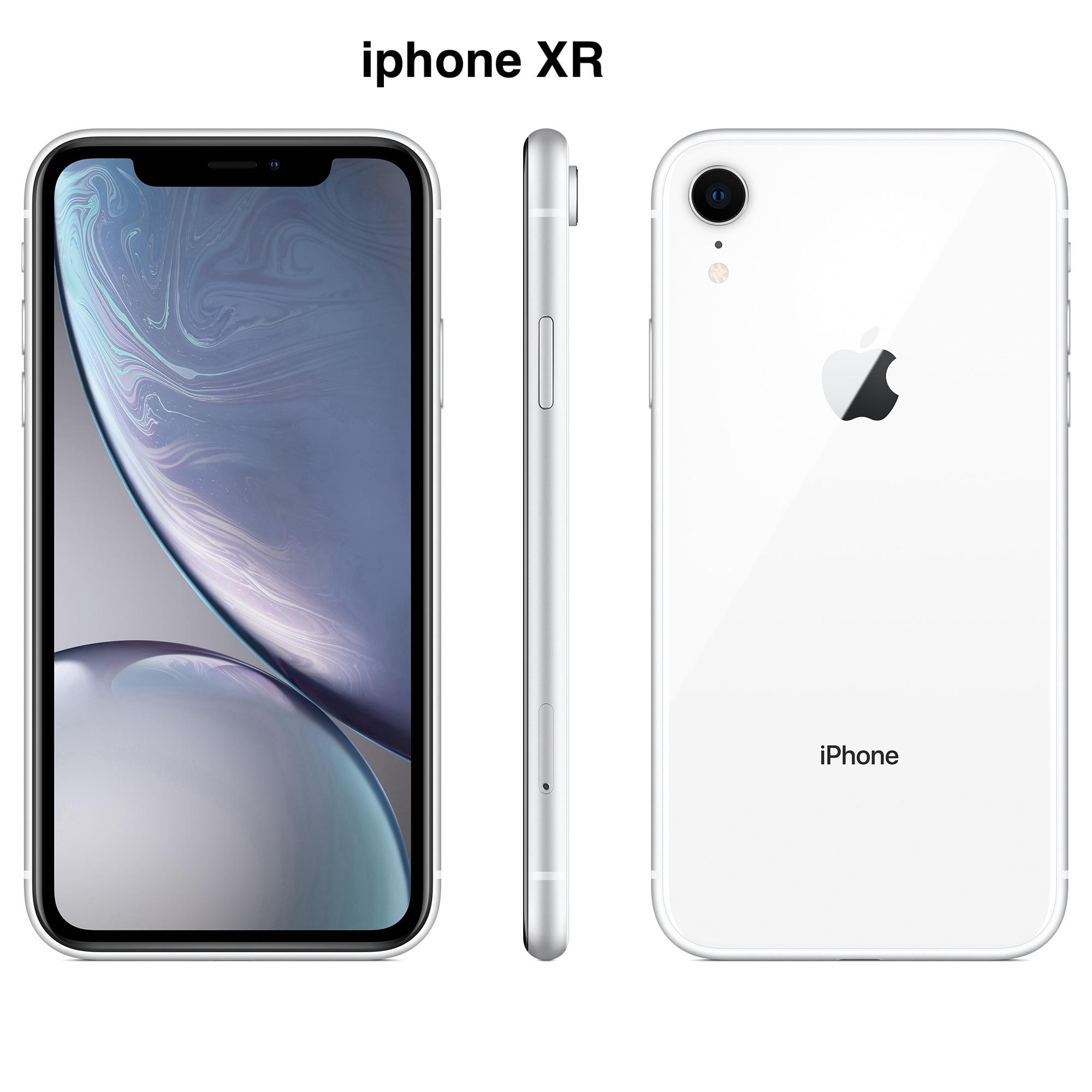 Бывший в употреблении Apple iPhone XR, 5,5-дюймовый дисплей Retina HD, полный экран, телефон с идентификацией лица, 4G LTE, шестиядерный A12 Bionic IOS смартфон