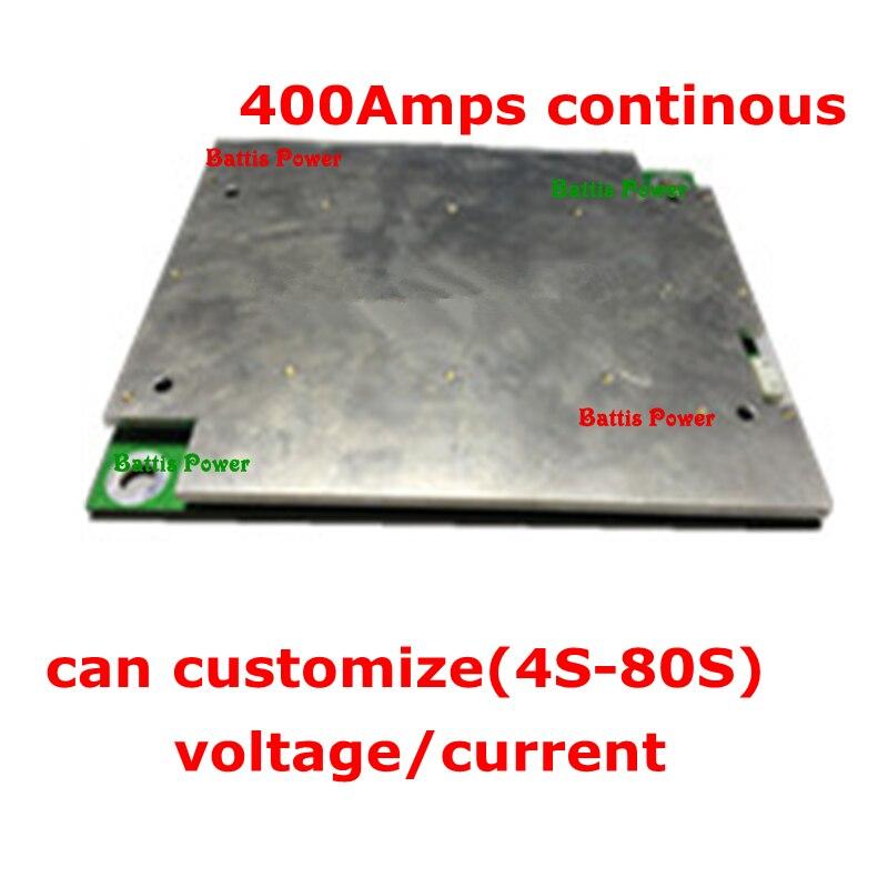 1ps BMS litio 52v 48v 14S 48v 400A 250A 300A batería de corriente ultra alta 51,8 v BMS protección para motor de energía EV 10kw 13S 500A