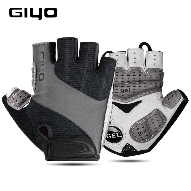 GIYO Bicycle Gloves Half Finger Outdoor Sports Gloves For Men Women Gel Pad Breathable MTB Road Racing Riding Cycling Gloves DH