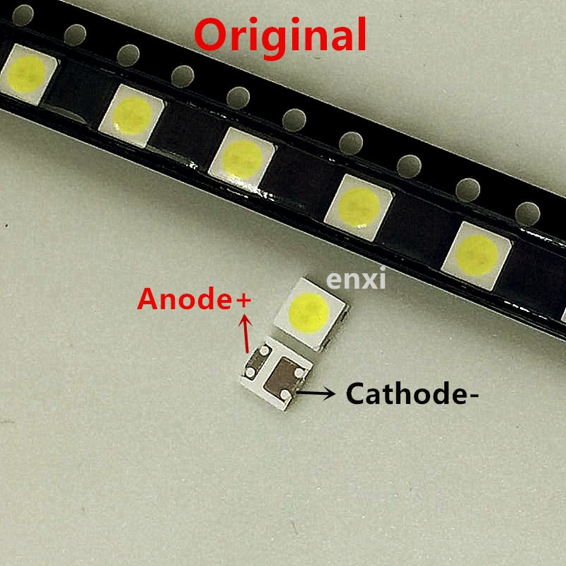 500 шт./лот оригинальный F0R SHARP 3535 6 в 2 Вт холодный белый для ЖК-подсветки, лампы, Объективы для ТВ, светодиодная лента