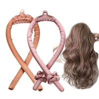 Набор для завивки волос, Женская универсальная плойка без тепла, Плойка для завивки волос без нагрева, шелковая лента для завивки волос