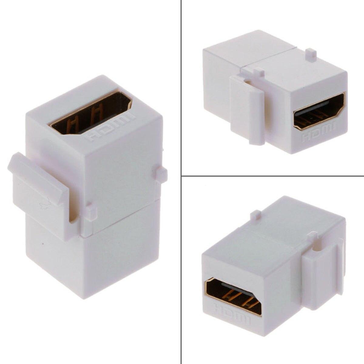 Cism fêmea f/f keystone jack acoplador para hdmi 1.4 snap-in adaptador fêmea para placa de parede cor branca