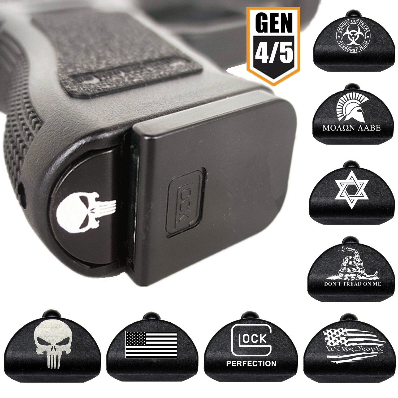 Marco de agarre táctico, enchufe de inserción Magwell para Glock Gen 4/5 17 19 34 44, pistola de pistola, pistola de carga rápida de 9mm para cargador de revistas, accesorios