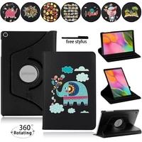 for samsung galaxy tab a7 10 4 t500 t505tab a 10 1 2019 t515t510tab s6 lite p610 360 rotating leather tablet cover stylus