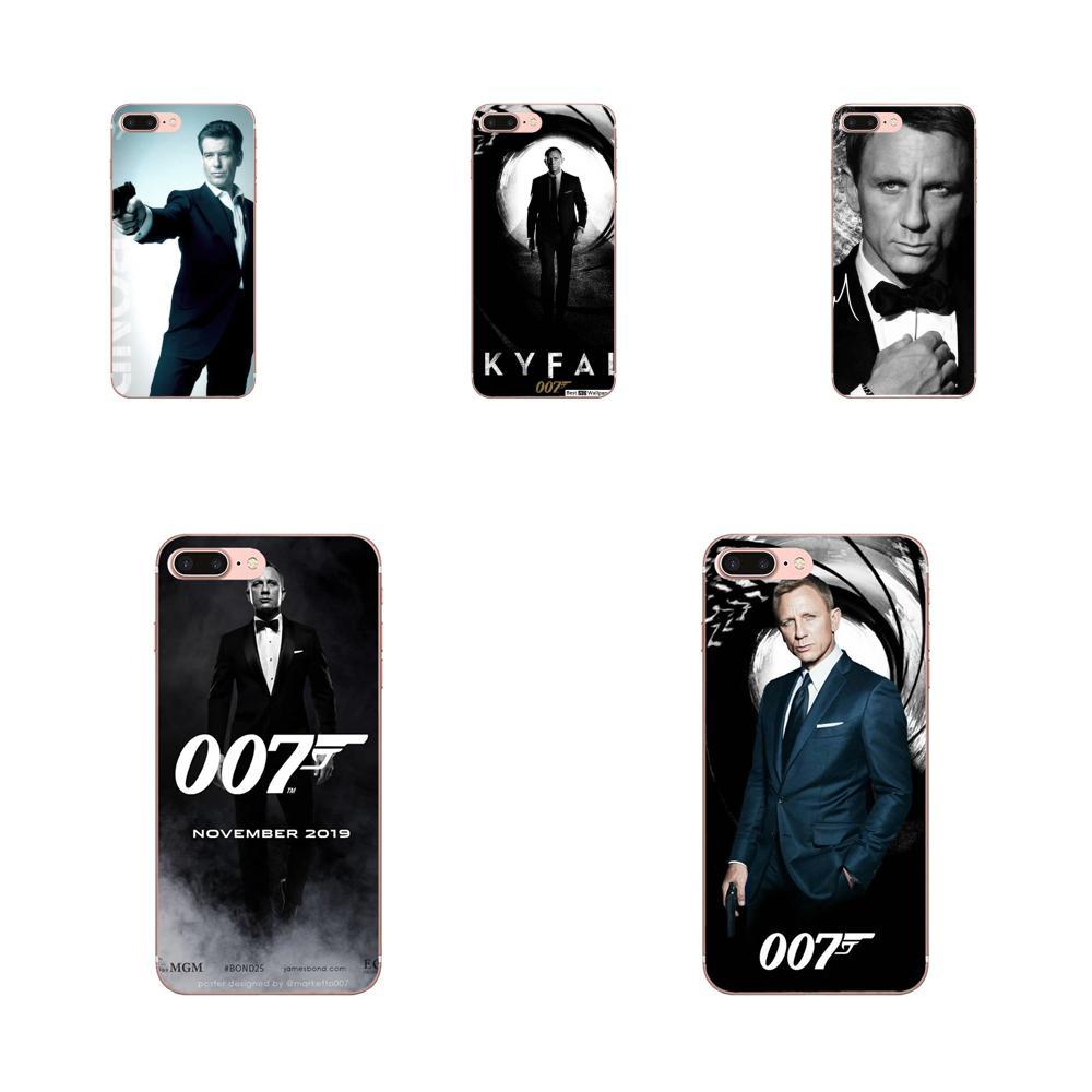 James Bond TPU para iPhone 11 Pro Max Plus Pro X XS X Max XR 8 7 6S SE 4S 5 5C 5S SE 2020