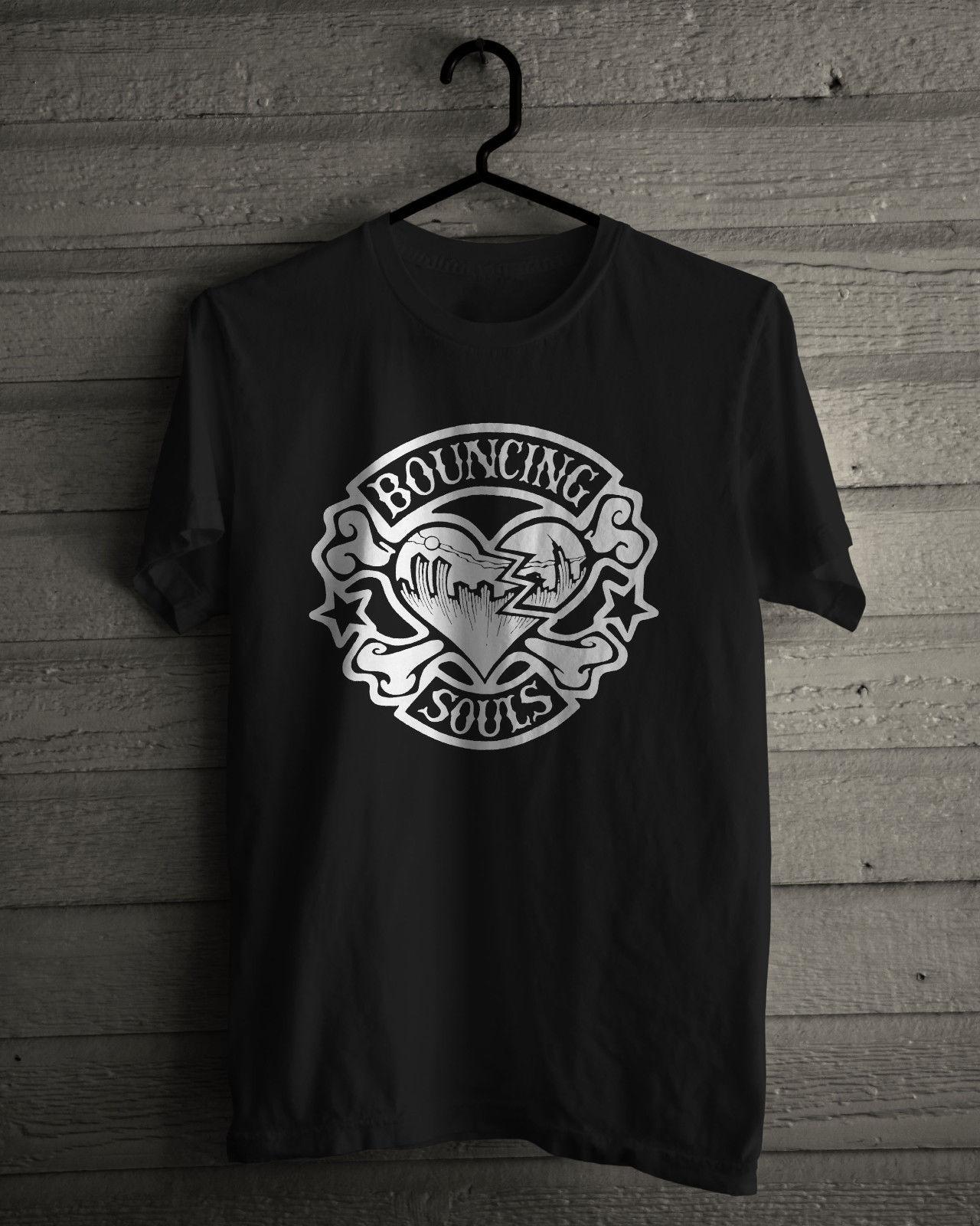 Camiseta The Bouncing Souls, nueva camiseta negra de banda Punk Rock americana de Nuevo Brunswick 2017, camiseta Casual de manga corta