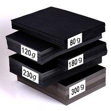 Papier de bricolage en carton épais, papier noir en carte 80-300gsm fabrication de cartes à la main, A4/A3/8 K/4 K