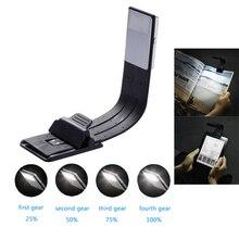 E-book Rechargeable Led lampe de lecture pour papier Kindle avec pince Flexible détachable luminosité réglable USB lampe de lecture