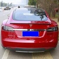 Carbon Fiber Car Rear Trunk Spoiler for Tesla Model S 4 Door Sedan Carbon Spoiler Matt Black Finish 2012 - 2016