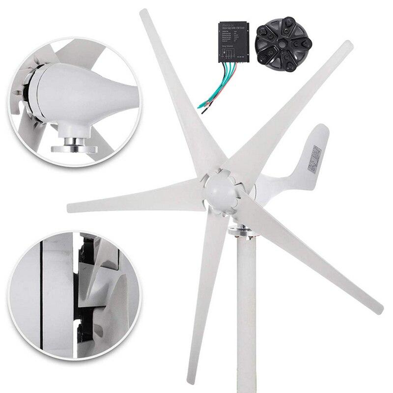 Generador de turbina de viento 500W 24V CC/12 V 5 HOJA baja velocidad del viento iluminación de calle turbinas de viento con controlador de carga jardín