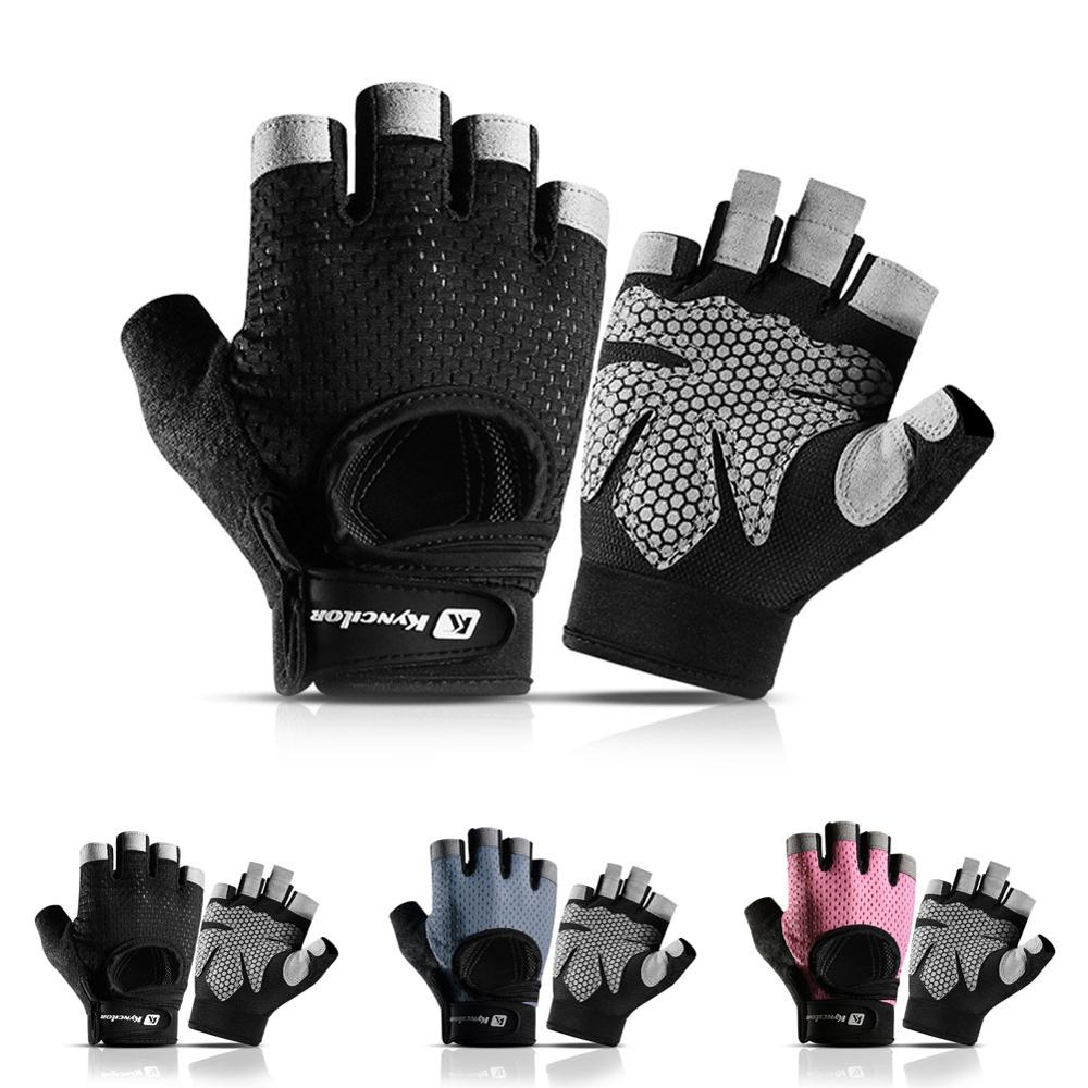 Half-finger Fitness Sports Gloves Weight Lifting Exercise Gym Men Women Gloves Sweat-absorbent Anti-skid Cycling Gloves