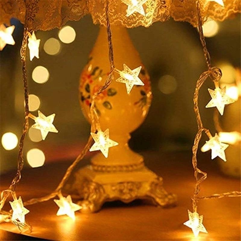 Светодиодные лампочки звездочки, фея, гирлянда светильник s Новинка, для празднования Нового года, свадьбы, домашние украшения Желая звезды ...