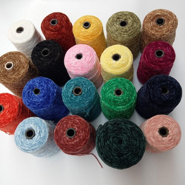 Masculino e Feminino Outono Inverno Moda Fio Chenille Veludo Mão Suave Usar lã 500g –