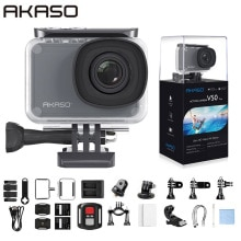 AKASO V50 Pro Native 4K/30fps 20MP WiFi Action Camera EIS Touch Screen 30m Waterproof 4k Sport Camer