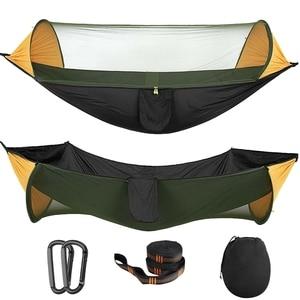 Портативный гамак с москитной сеткой, палатка-качели для кемпинга и походов