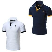 2020 letnia męska koszulka z krótkim rękawem casual cotton polo pół rękawa slim solidny kolor koszula z kołnierzem wiodącym ubrania