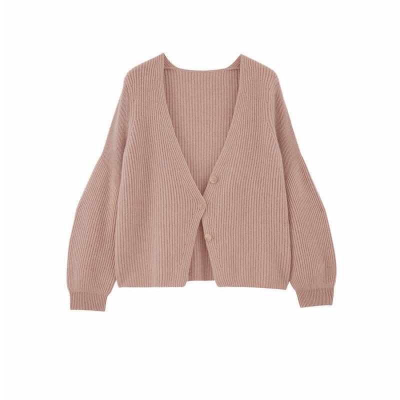 Winter Women's New 2021 goat wool Loose Long Sleeve Knit Sweater Cardigan Coat Thick Winter Women Cardigans Sweater enlarge