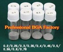 (25k) 25000 шт. 0,2 мм/0,25 мм/0,3 мм/0,35 мм/0,4 мм/0,45 мм/0,5 мм/0,55/0,6 мм/0,65 мм/0,76 мм свинцовые Паяльные шарики BGA Паяльные шарики