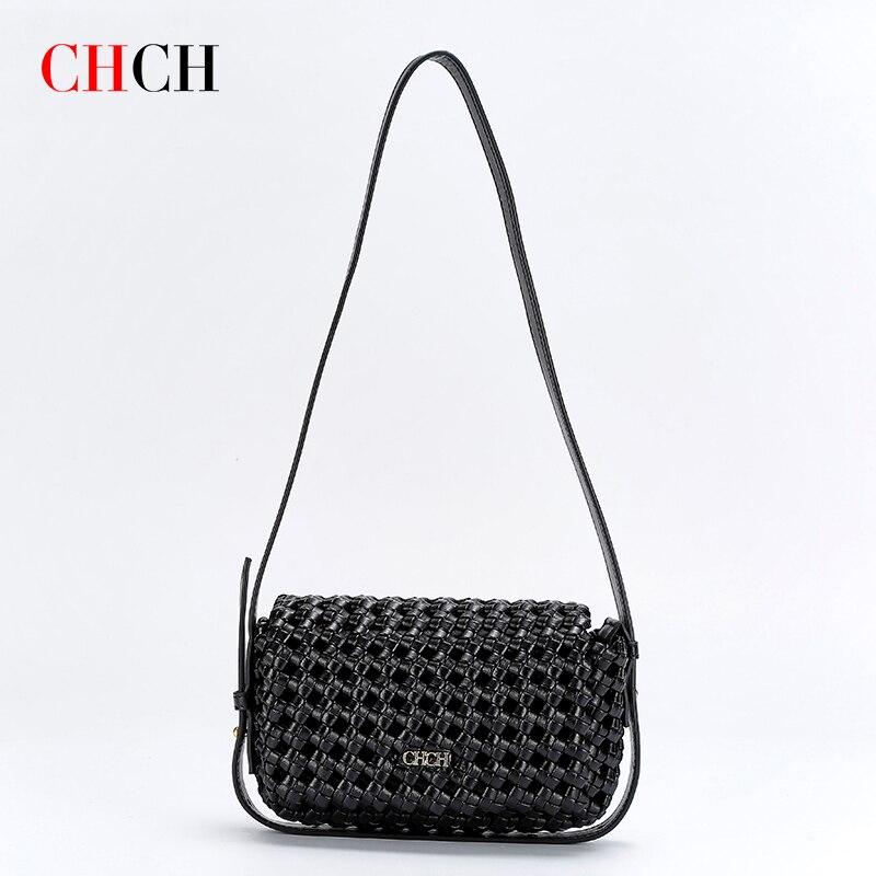 CHCH 2021 بلون الأزياء شنطة كتف الإناث السفر عبر الجسم حقيبة نسج صغيرة Crossbody حقائب للنساء
