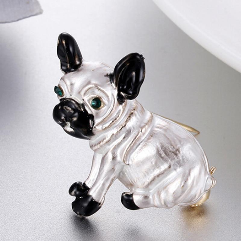 Esmalte animal broche pino bonito pequeno cão broches liga de metal masculino feminino broche pino casaco acessórios vestido broches bijouterie