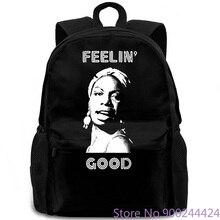 Nina Simone feelin bon hommes-Jazz Soul Blues légende hommes été marque Style sac à dos
