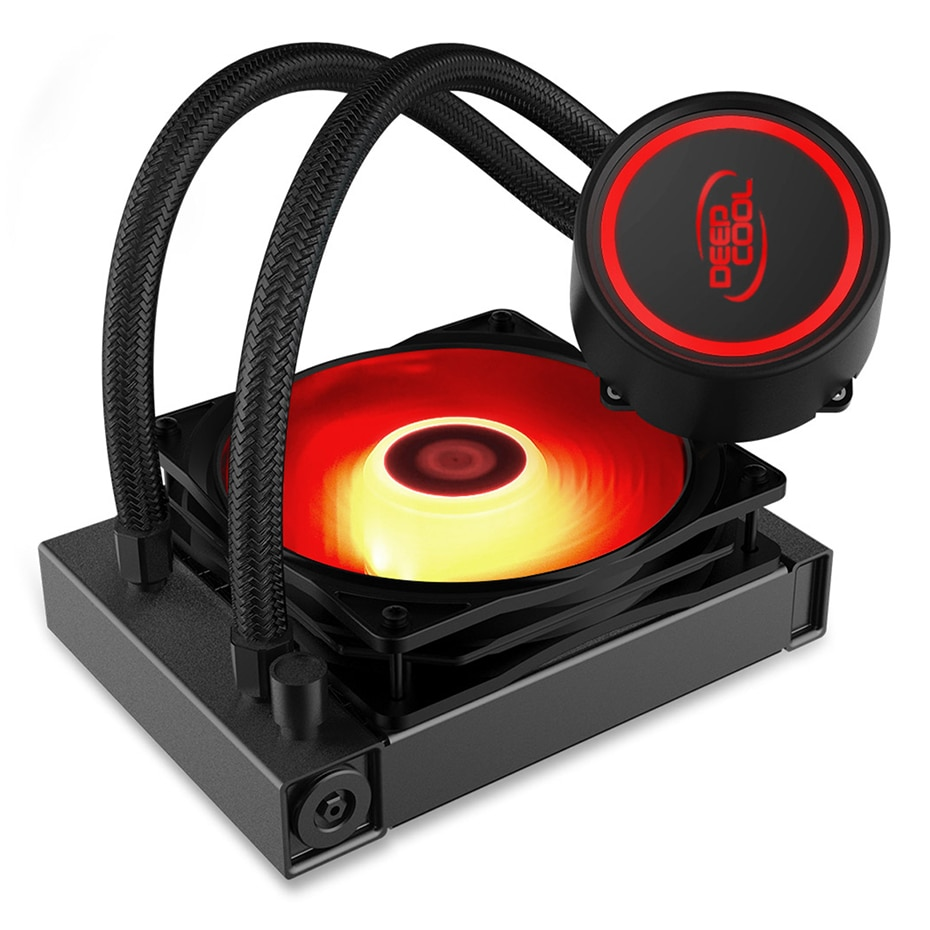 DEEPCOOL GAMMAXX 120 V2 CPU enfriadores líquidos ordenador CPU enfriamiento 120mm RGB Ventilador de refrigeración LED enfriador de agua para intel/AMD