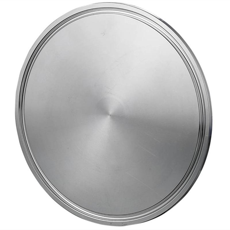 "4 ""OD 102mm SS304 sanitarias ciego disco brida tapas de tubería encaja 4"" Tri Clamp"