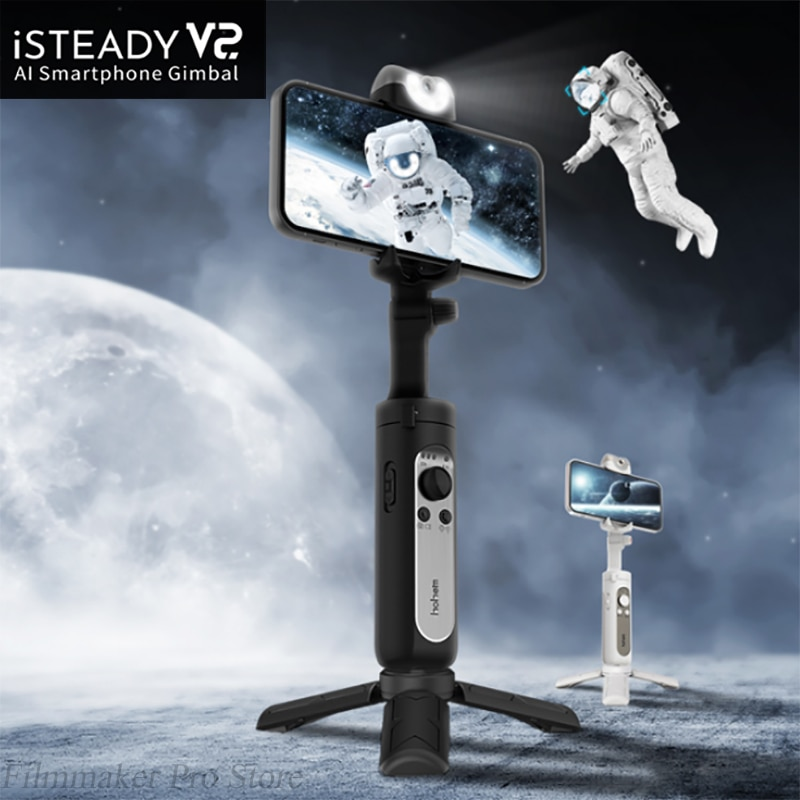 Review Hohem iSteady V2 V 2 X 3 Axis Handheld Stabilizer Smart Anti-shake Selfie Stick for iPhone Smartphone Action Camera gopro hero