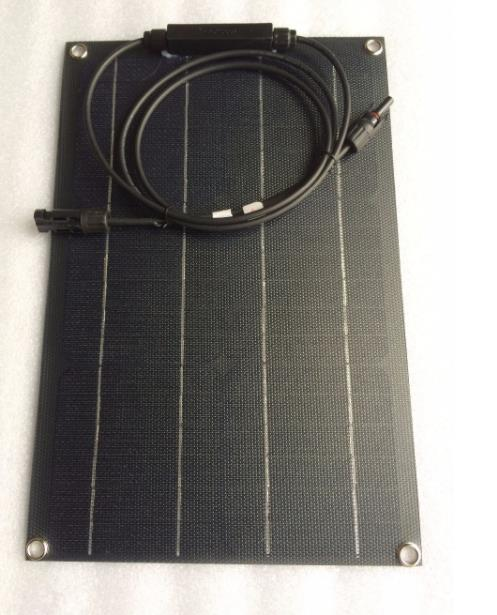 Panel Solar Flexible ETFE monocristalino de 20W para coche/Barco, Panel Solar Flexible de alta calidad