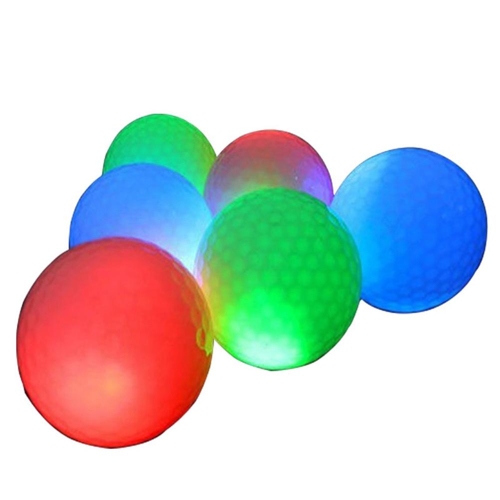 Профессиональные светящиеся мячи для ночного гольфа, светодиодные светящиеся мячи для гольфа, светящиеся в темноте, яркие, долговечные, мно...