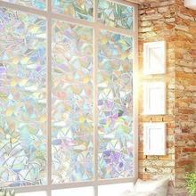 45x100cm 3D Window Glass Film Sticker Stained Anti UV Self-adhesive Rainbow Sticker